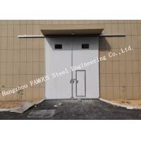 Buy cheap Sectional Horizontal Sliding Industrial Garage Doors With Access Pedestrian Door For Workshop from Wholesalers
