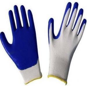 13G nylon nitrile coated gloves