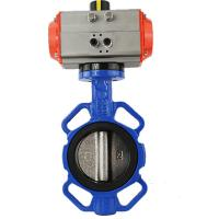 China pneumatic Dn 50 multi-position handle wafer types butterfly cast iron valve on sale