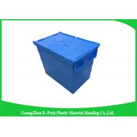 Buy cheap Heavy Duty Moving Stackable Plastic Tote Boxes With Hinged Lids from Wholesalers