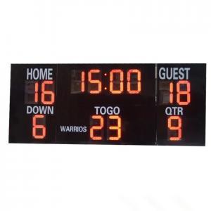 China LED Electronic Sports Scoreboard , Multi Sport Scoreboard Front Face UV Protection factory