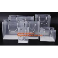 China plastic clear heat seal square bottom pp bag with plastic handle,gift bag transparent shopping handle bag bagease pac factory
