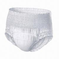 China Adult Pull-up Diaper, Cloth-like Film, Made of Nonwoven, Pulp, SAP, Soft and Breathable factory