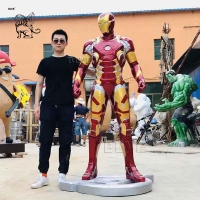 China Marvel Avengers Iron Man Sculpture Resin Life Size Mark 43 Statue Home Decoration factory