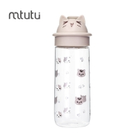 China Beige 500ml Capacity Plastic Cartoon Bottle For Young People factory