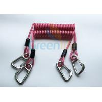 Buy cheap High Strength Strong Coil Tool Lanyard Transparent Red PU Material Cover from Wholesalers