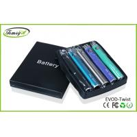 China 1300mah Evod Twist Battery With 3.2v – 4.8 V , E Cigarette Rechargeable Battery 1300mah factory