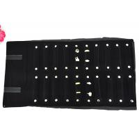Buy cheap 550*300mm Velvet Jewelry Roll Up Case Black Color For Rings Packaging from Wholesalers