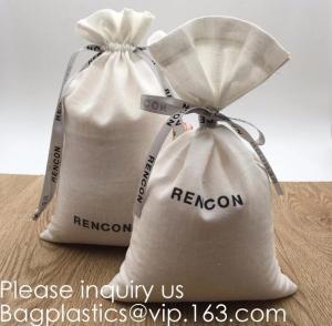 China Double Canvas Drawstring Bag Cotton Pouch Gift Sachet Bags Muslin Bag Reusable Tea Bag,Organic Cotton Reusable Produce B factory