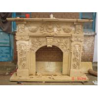 Buy cheap Flowers and Leaves White Stone Fireplace Mantel from Wholesalers