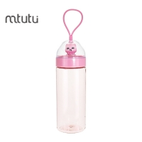 China Silicon Rope Children 400ml Cartoon Reusable Water Bottle factory