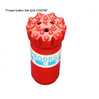 China GT60 15 buttons 115mm tungsten carbide hard rock drilling thread button bits for mining factory
