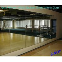 China 6mm Vinyl Backing Processed Mirror Glass For Fitness Club / Dance Studios factory