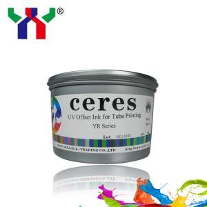 Ceres UV offset printing ink YR series CMYK for tube, flexible hose