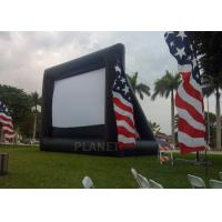 China Advertising Inflatable Outdoor Movie Screen , Inflatable Projector Screen factory