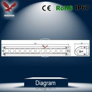 China 10W Cree single row Led light bar super bright 4X4 300W factory