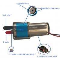 Buy cheap 12V DC Mini Vacuum Pump With Carbon Graphite Vanes Low Starting Current from Wholesalers