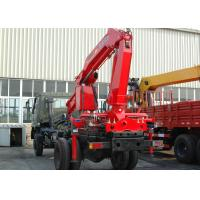China High Quality Construction Knuckle Boom Truck Mounted Crane , 5T Truck Loader Crane factory