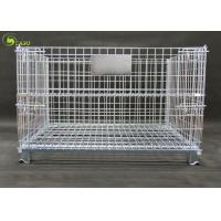 Buy cheap Galvanized Wire Pallet Warehouse Stacking Turnover Box , Industry Storage Shelf from wholesalers