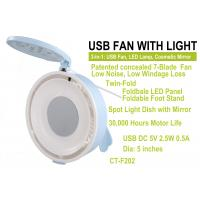China USB Fan and Lamp with cosmetic mirror CT-F202 on sale