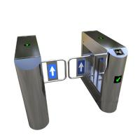 China Bank Swing Barrier Automatic Turnstiles RFID Swing Glass Gate For Access Control System factory