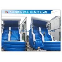 China Blue Color Inflatable Water Slides For Adults , Inflatable Swimming Pool Water Slide factory