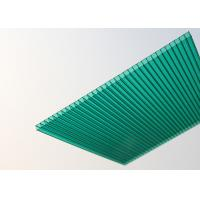 China Soundproof Polycarbonate Patio Roof Panels , Green Plastic Roofing Sheets factory
