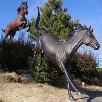 Buy cheap 2018 new garden antique chinese cheap dark bronze horse statues from Wholesalers