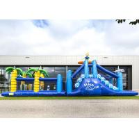 China Giant Crazy Inflatable Obstacle Race Blue Color For Kids And Adults factory