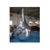 China Reflective Inflatable Mirror Ball Water Drop Shaped Customized Size factory