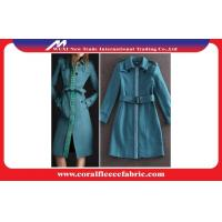 China Light Blue Fashion Long Trench Jacket Overcoat Smart Casual Clothing for Lady factory