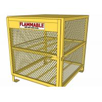 Buy cheap Yellow Color Gas Cylinder Cages Pad Lockable Easily Assembled / Dissembled from Wholesalers
