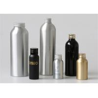 Quality Silver Aluminum Cosmetic Bottles 100ml Cosmetic Packaging Polished for sale