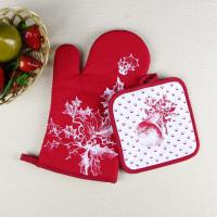 Buy cheap Christmas Theme Highly Recommend Kitchen Cooking Pot Holder and Oven Mitten Glove from Wholesalers