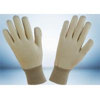 Buy cheap Natural White 100% Cotton Work Gloves No Fluorescent Brightener Added from Wholesalers