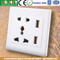China 10A power socket electric socket with 2 USB output 5v2.4A suit for iphone ipad sumsung htc camera etc factory
