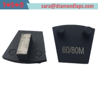 China Two Pin Backed Trapezoid diamond grinding shoes factory