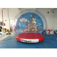 China Custom Inflatable Snow Globe Photo Booth / Blow Up Christmas Globe factory