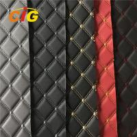 Buy cheap Car Seat Car Floor Embroidery PVC leather with High Density Foam from wholesalers