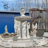 China large Garden Marble Fountain Woman Statue For Outdoor Decoration factory