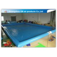 China Blue Inflatable Swimming Pool With Platform , Large Inflatable Pool For Adults factory