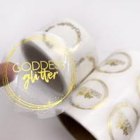 China Gold Foil Hot Stamping Self Adhesive Transparent Packaging Label Stickers Printing on sale