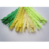 China Custom Length Double Sided Sewing Notions Zippers , Nylon Lace Zipper For Clothes factory