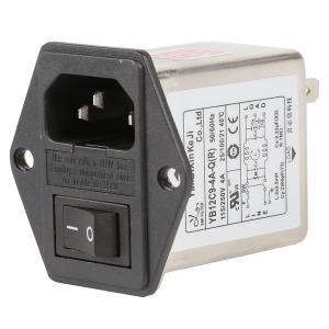China 115V 250V 3A 6A Single Phase Plug In RFI Filter EMI Noise Filter factory