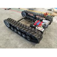 China Black Rubber Track Undercarriage Chasiss 1-10T For Construction Equipment Spare Parts factory