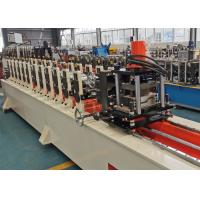 China CE Passed Full Automatic Door Frame Roll Forming Machine With Hydraulic Cut on sale