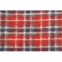 China Rustic Chelsea Tartan Plaid Red Jacquard Fabric By the Yard Flame Red / Grey factory