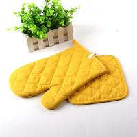 Buy cheap Yellow Color AZO Free Customized Logo Printed Kitchen Oven Mitts / Silicone Oven Glove from Wholesalers