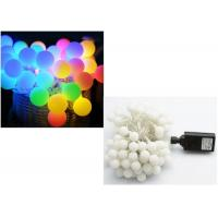 China Multicolor / Blue LED Globe String Lights Cotton Ball Shape CE Approved on sale