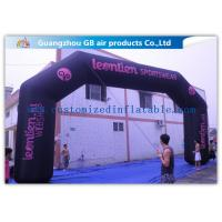 Buy cheap Durable Black Inflatable Arch , 26 Feet Inflatable Entrance Arch For Advertising from Wholesalers